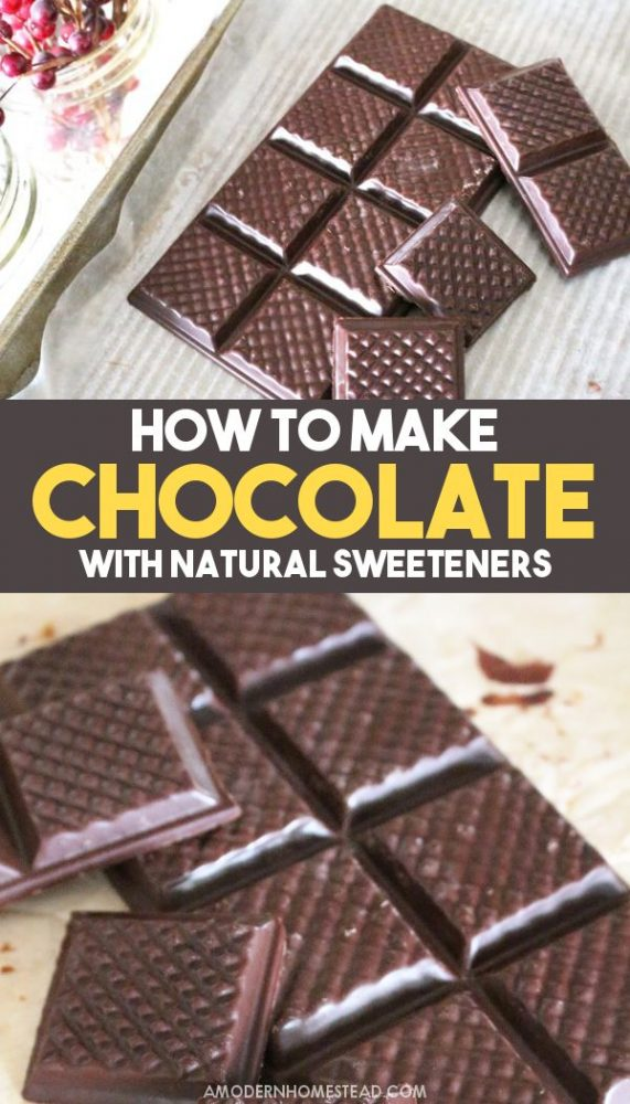 How to make chocolate from scratch with honey or any natural sweetener