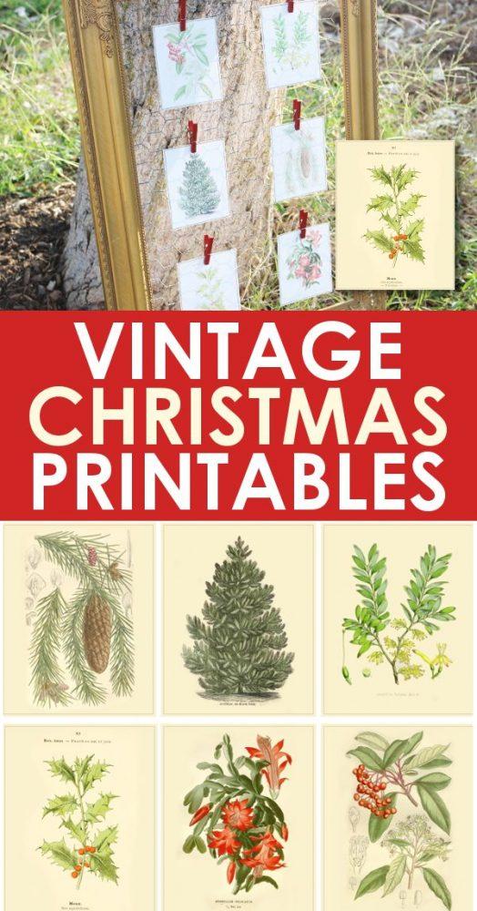 Vintage christmas printable images