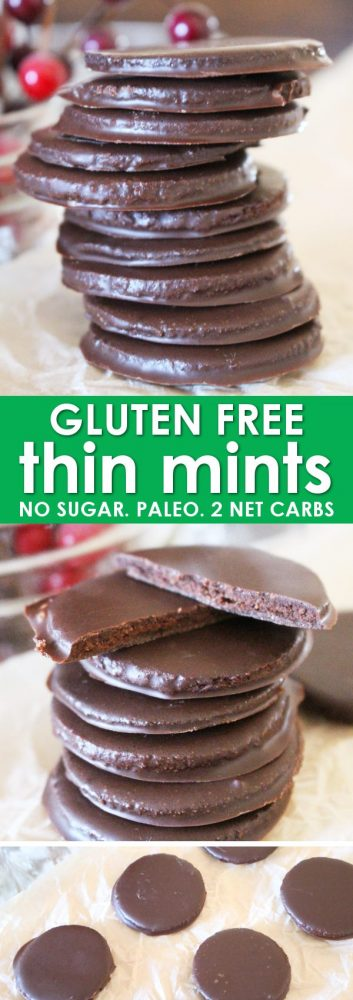Homemade Thin Mints are the perfect for anyone trying to eat a little better, and especially for those who need gluten free Thin Mints! This Thin Mint Recipe uses almond flour and results in the perfect, crispy, and sweet Thin Mint Cookie! And with only 1.38 net carbs, they are perfect Paleo and Keto Thin Mints too!