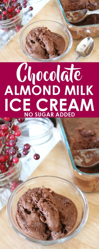 chocolate almond milk ice cream recipe