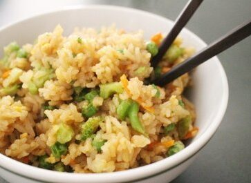 Who doesn't love Chinese take-out? Make it even better by cooking it at home to save time and money! Get started with this easy vegetable fried rice recipe!