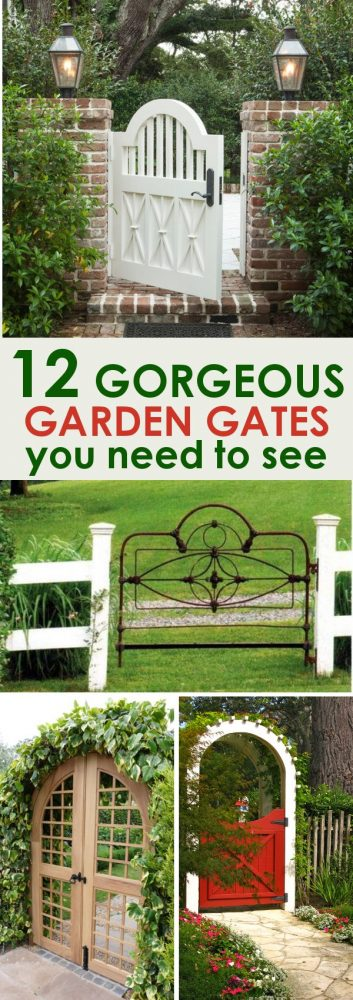 Garden gates for you to drool over and build yourself! These 12 garden gate ideas will inspire you and help you create the most beautiful garden space for your home.