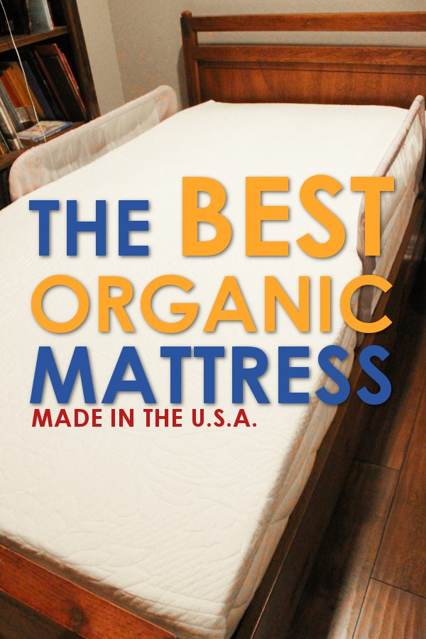 Full length image of the best organic mattress without sheets.