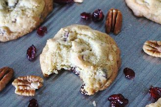 Cranberry pecan chocolate chip cookies for fall