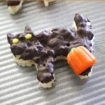 Halloween rice krispie treats recipe - Dark chocolate