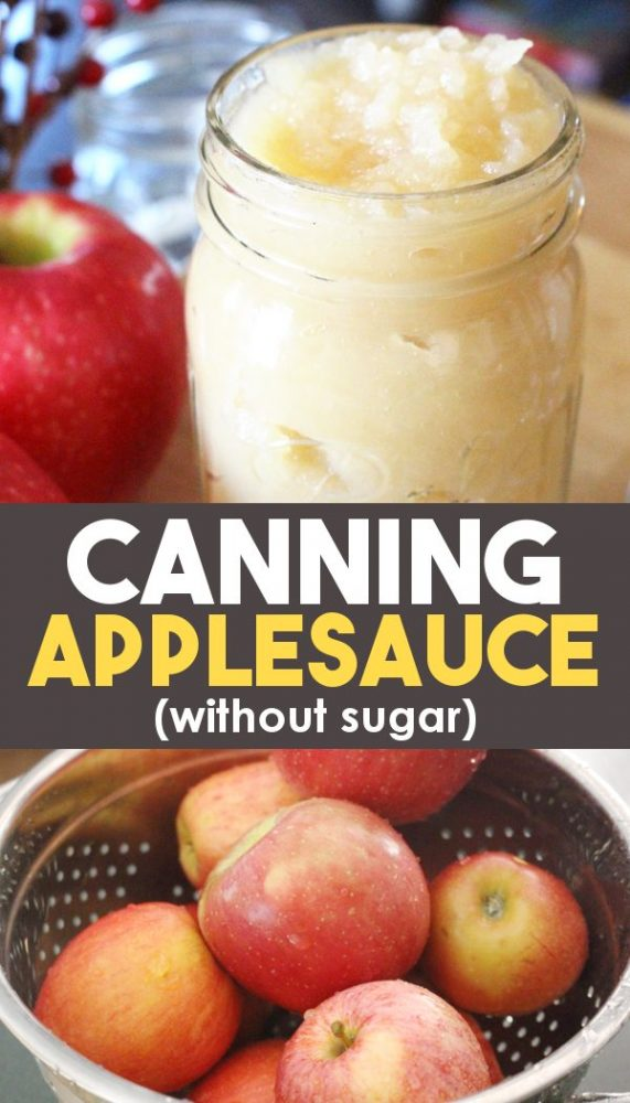 canning applesauce at home with or without sugar
