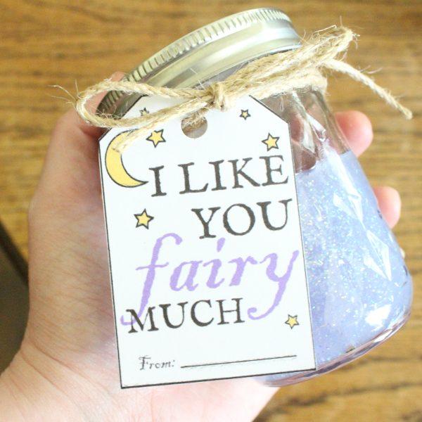 diy christmas gift idea for kids - glitter slime in mason jar