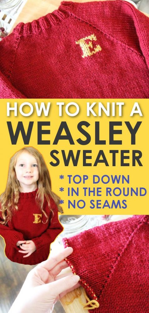 handknitted weasley sweater