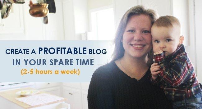 blogging mom holding her son