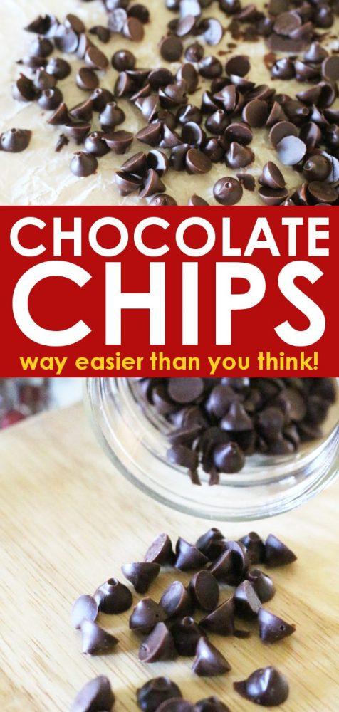 DIY homemade chocolate chips