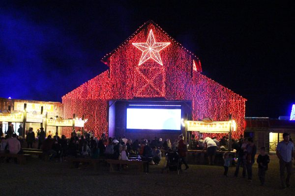Christmas movies at the Barn Santa's Wonderland