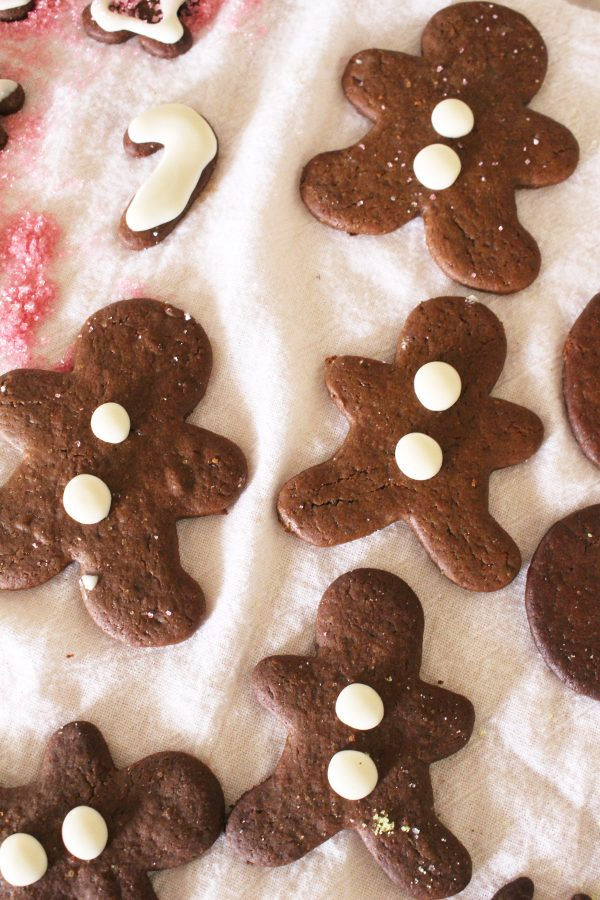 Gingerbread cookies in gingerbread man shapes