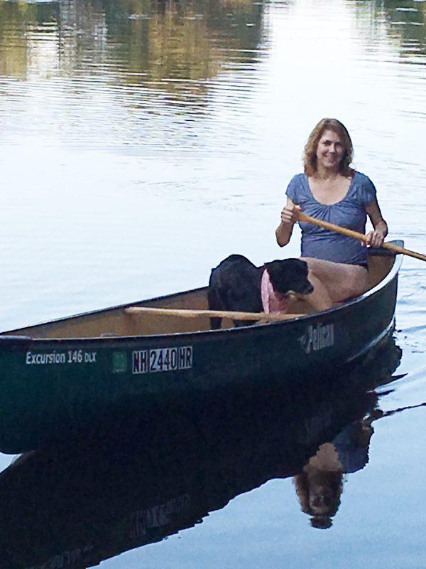 Wendie testing her canoe skills - Off the grid travel