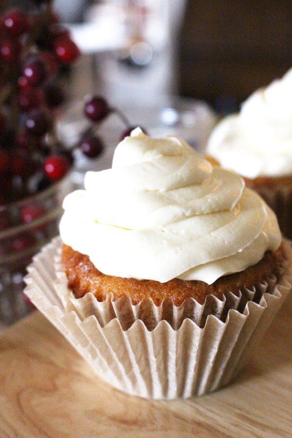 Paleo Buttercream Frosting on Vanilla Cupcake