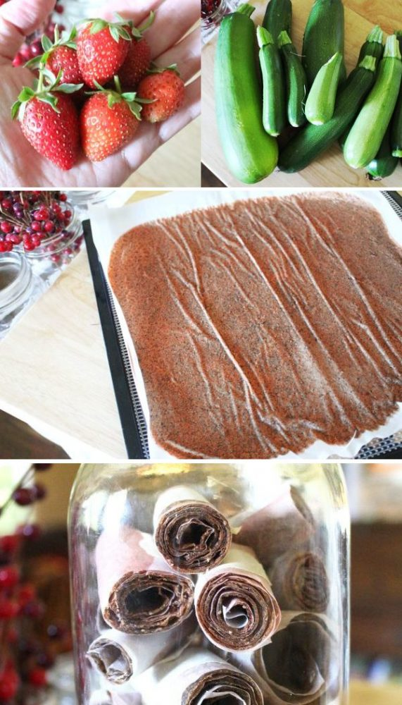 homemade strawberry zucchini fruit leather promo
