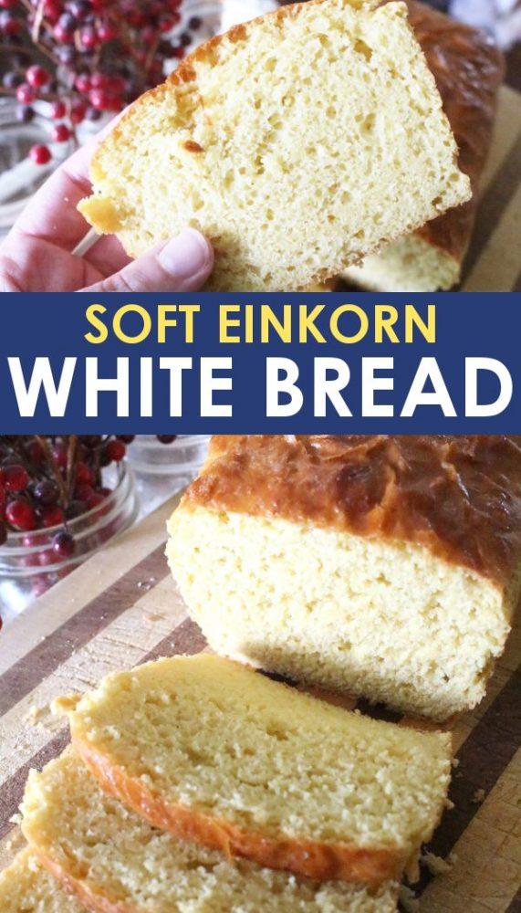 einkorn white bread recipe promo image