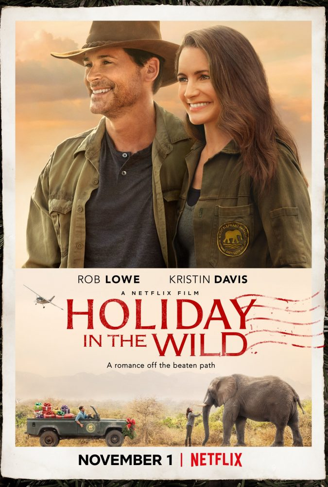 holiday in the wild netflix christmas movie poster