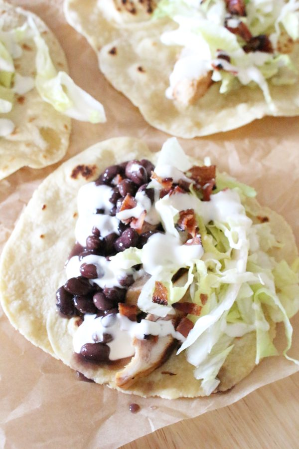 chicken bacon ranch taco assembly