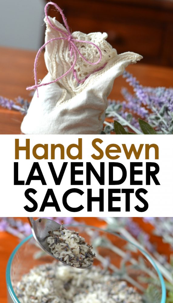 How to make hand sewn lavender sachets with non-toxic ingredients