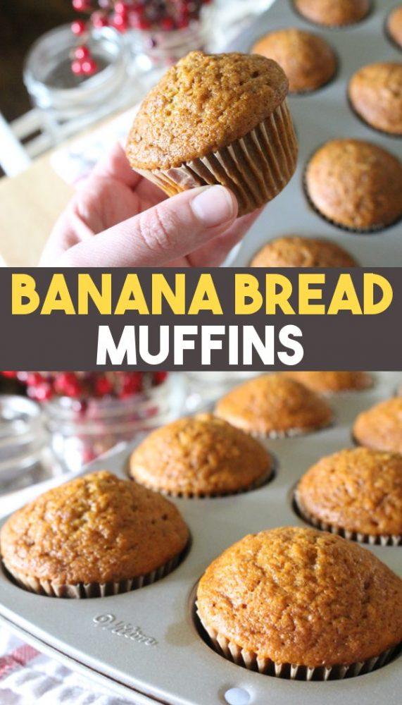 einkorn banana bread muffin recipe pin