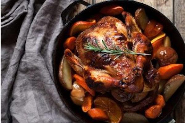 how to roast a frozen chicken