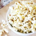 easy stovetop popcorn recipe in bowl