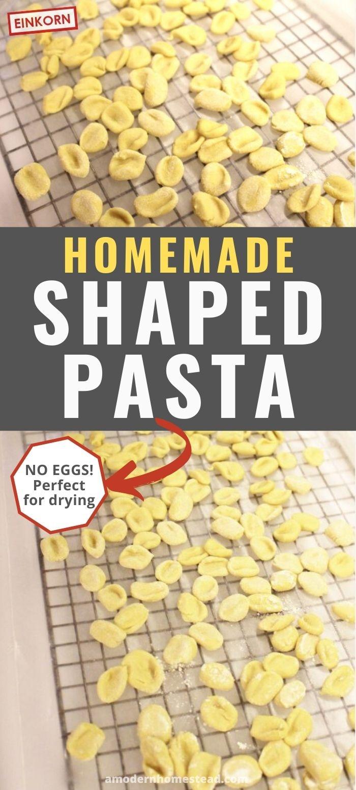 homemade einkorn pasta cavatelli pin