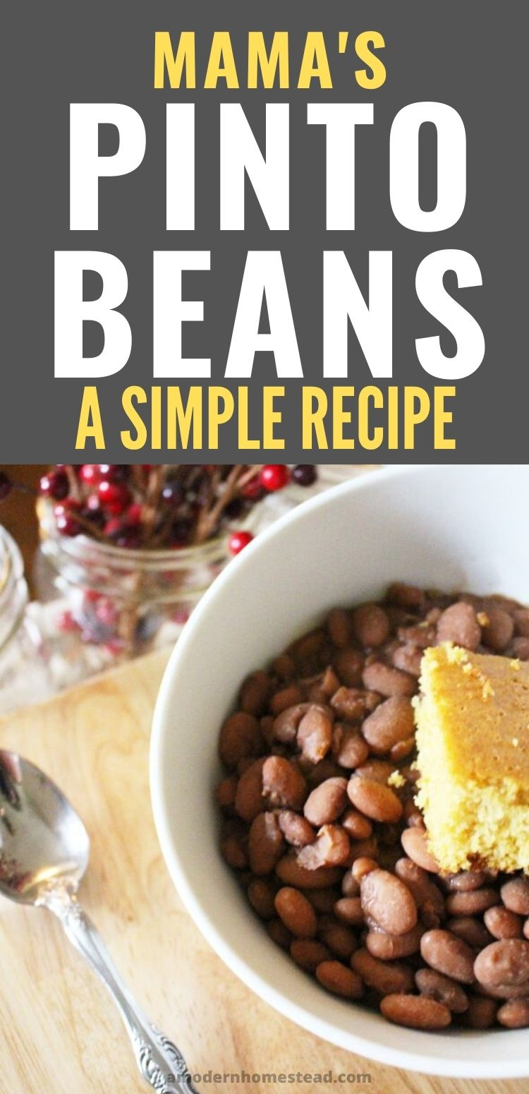 homemade southern pinto beans pin