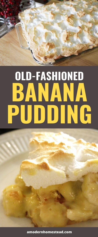 old-fashioned banana pudding recipe pin