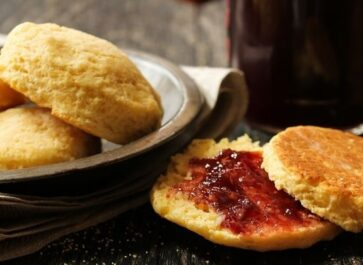 almond butter biscuits with jelly