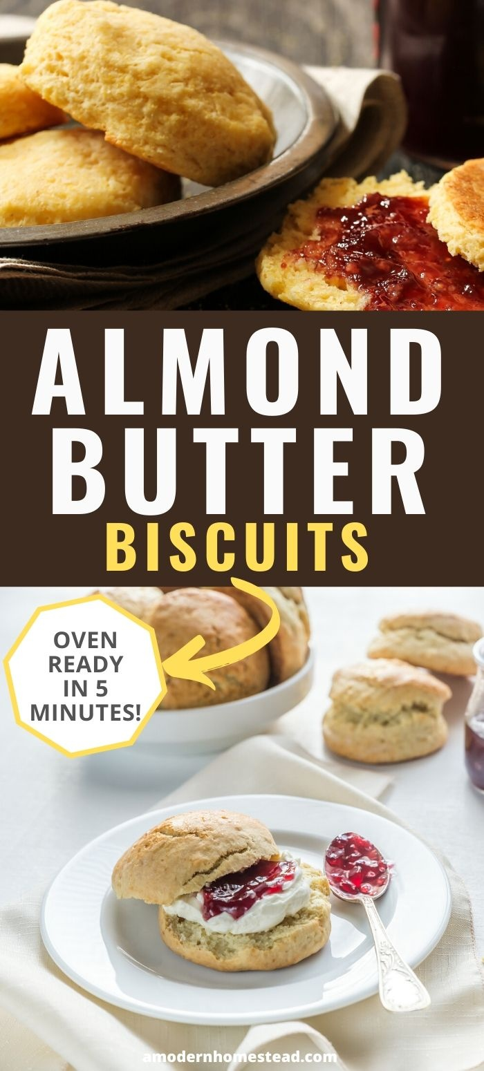 almond butter biscuits pin