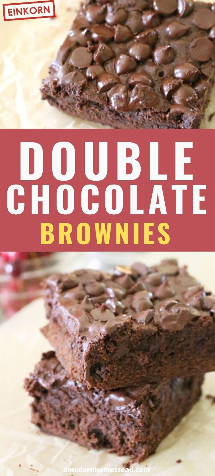 double chocolate brownies einkorn pin