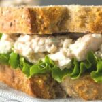 homemade chicken salad recipe on bread