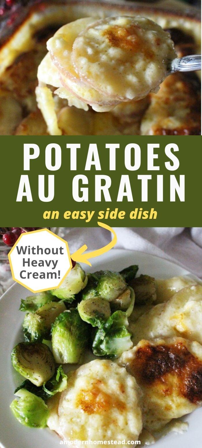 homemade potatoes au gratin recipe pin