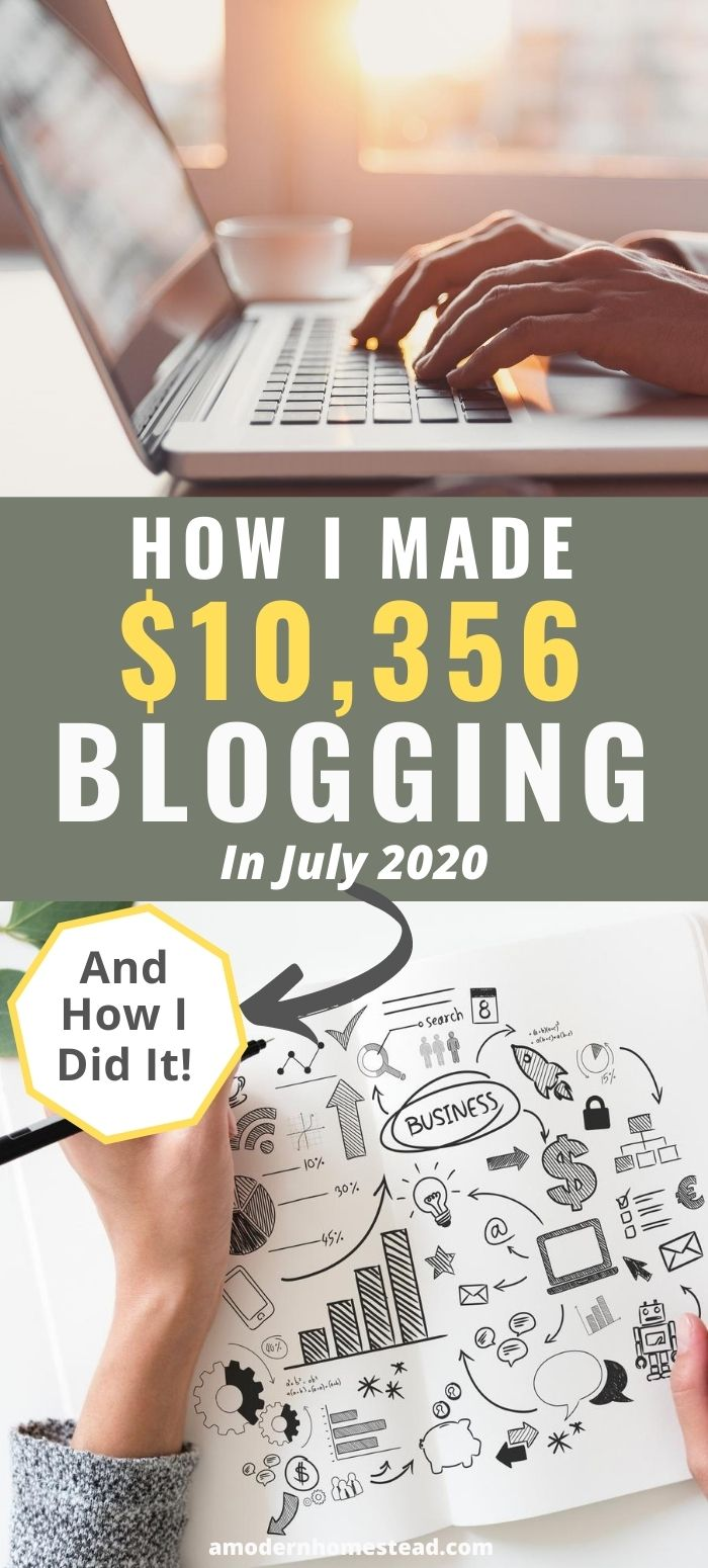 How I made $10,356 blogging in july 2020 promo image