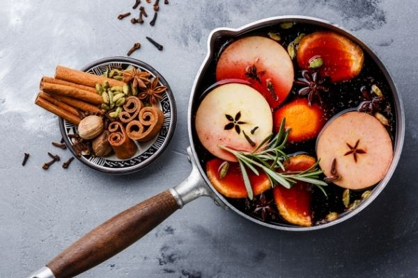 fall and christmas stove-top potpourri recipe in a pot