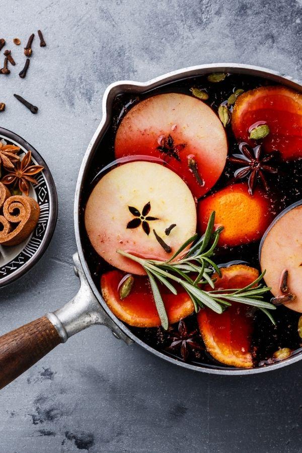 fall scents stove top potpourri recipe sitting in a pot