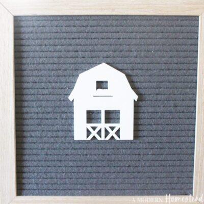 Dutch Barn Letter Board Icon