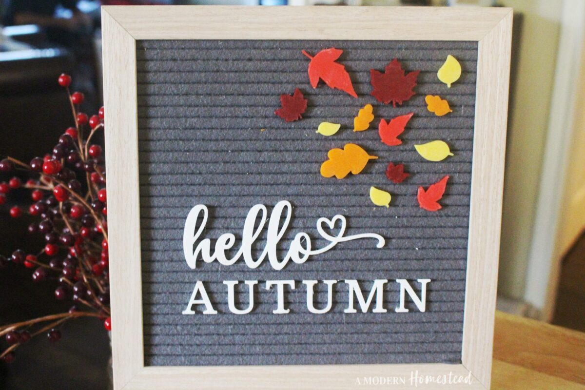 Fall Leaves and Hello Autumn Word Set for Letterboards and Felt Boards