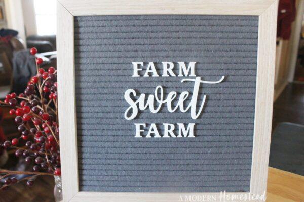 Farm Sweet Farm Letter Board Words Set