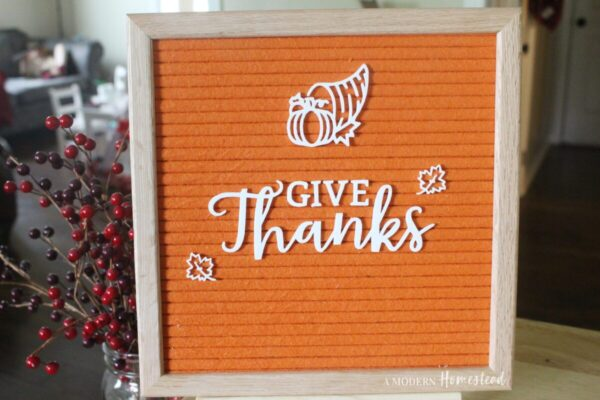 GIVE THANKS Cornucopia and Maple Leaves Fall Letterboard Set