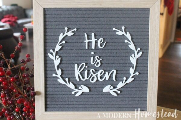 He Is Risen Easter Letter Board Icon Set