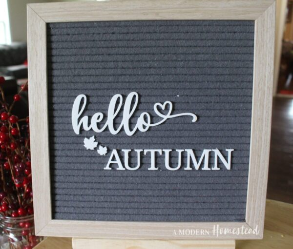 Hello Autumn with Leaves for Letterboards and Felt Boards