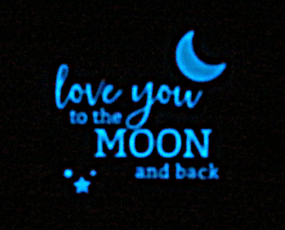 Love You to the Moon and Back (GLOW in the DARK) Letter Board Set Glowing