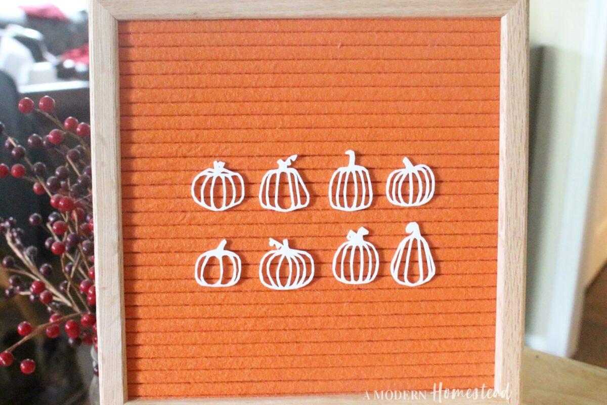Pumpkin & Gourd Outline Icons for Letter Board