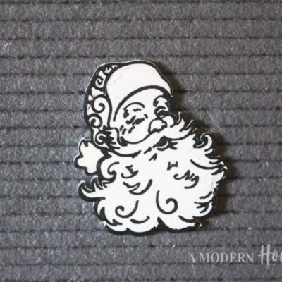 Vintage Santa Claus Icon for Letterboards and Felt Boards in black and white