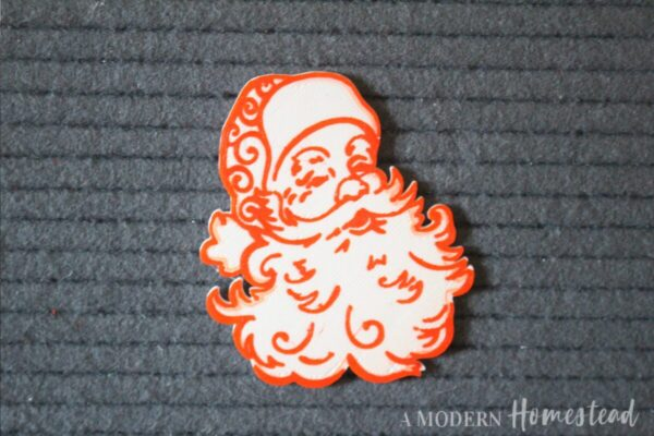 Vintage Santa Claus Icon for Letterboards and Felt Boards in red and white