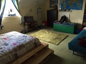Ben's bedroom tidy