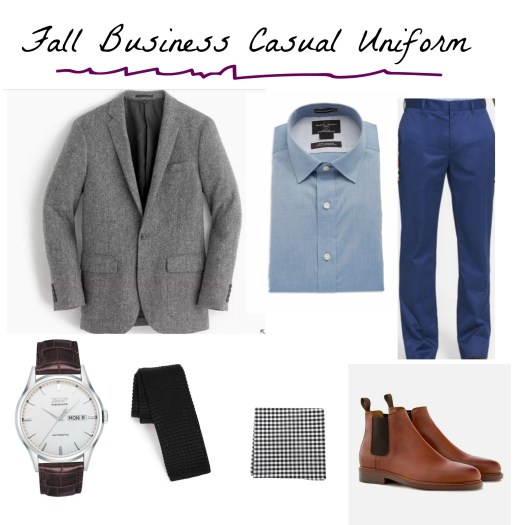fall business casual uniform