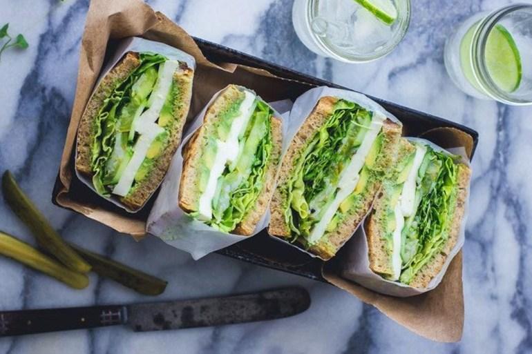 healthy lunch recipes, sandwich